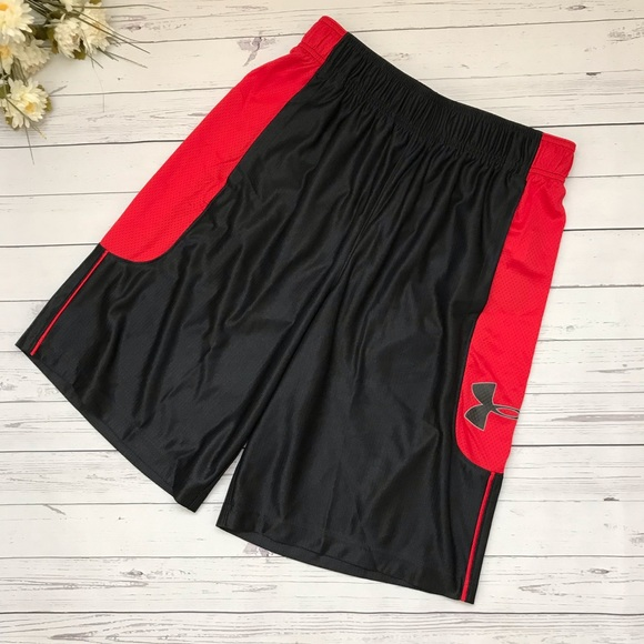 Under Armour Other - Black/Red Under Armour HeatGear Basketball Shorts